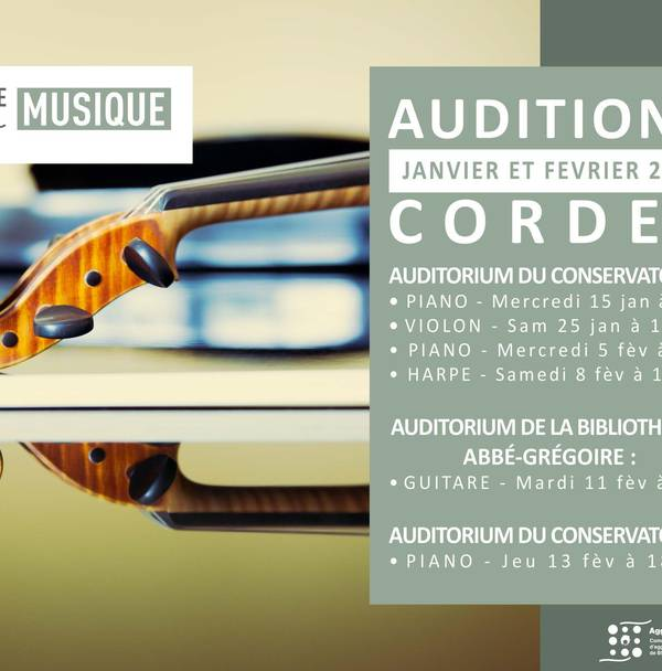 AUDITIONS CORDES